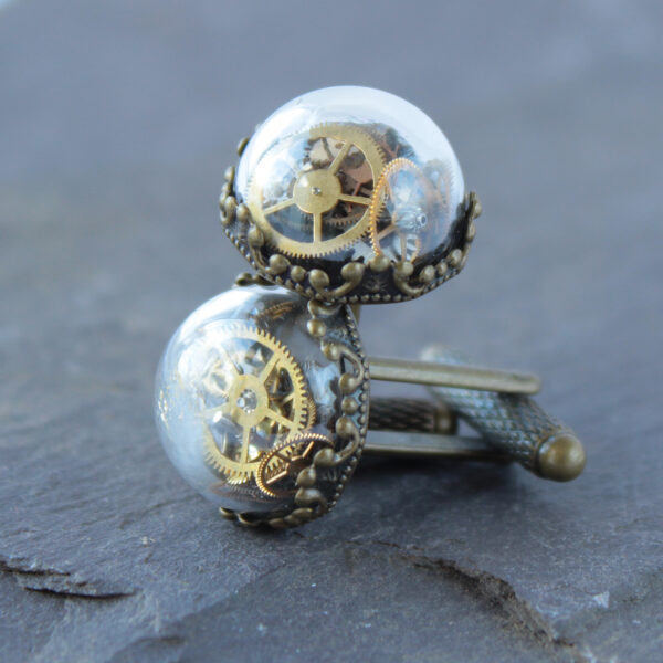 Lizzy chambers Vintage Upcycled Clock cufflinks
