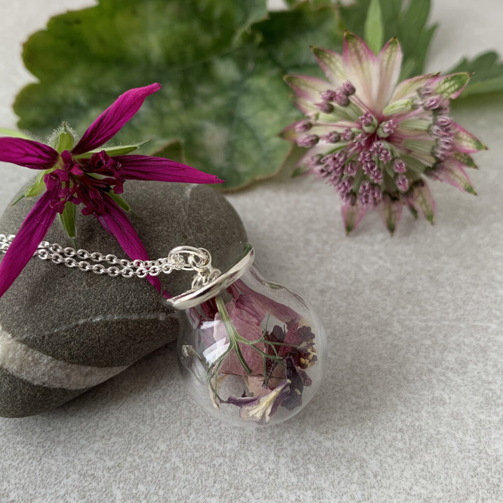 British Dried Flower Necklace