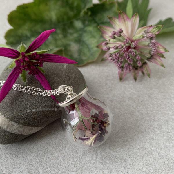 British Dried Flower Necklace