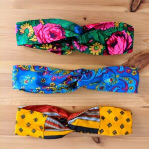 Up North Textile Design, Vintage Scarf Twist Knot Headband