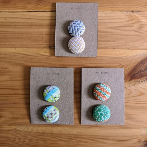 Up North Textile Design, Woven Fabric Hair Bobbles