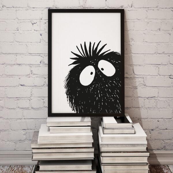 Baldy And The Fidget, Peekaboo Print