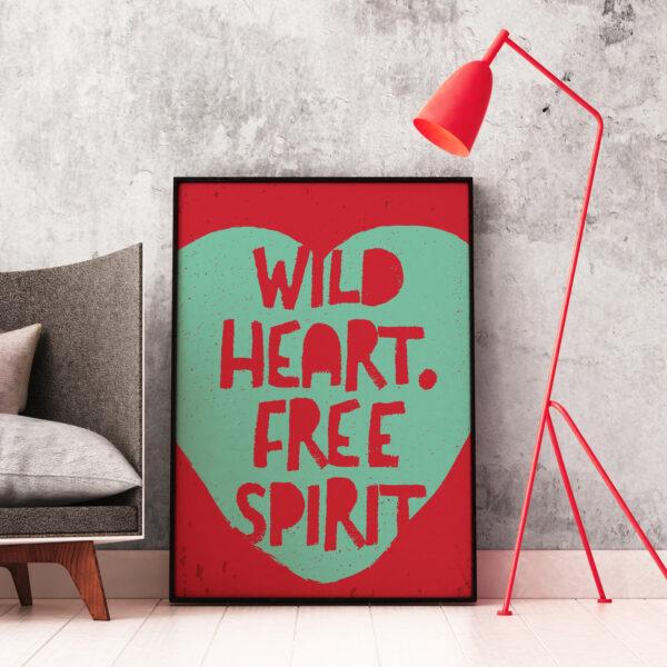 Baldy And The Fidget, Wild Heart, Free Spirit Print