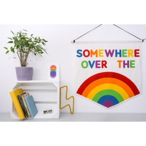 Petit Boo Che, Somewhere over the rainbow felt nursery banner