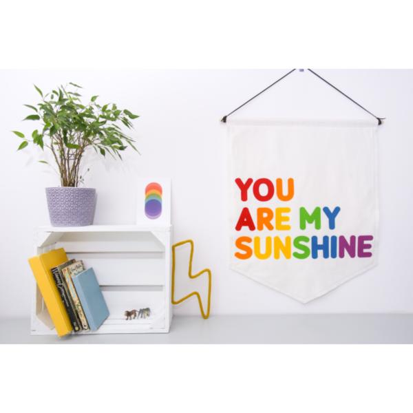 Petit Boo Che, You are my sunshine felt nursery banner