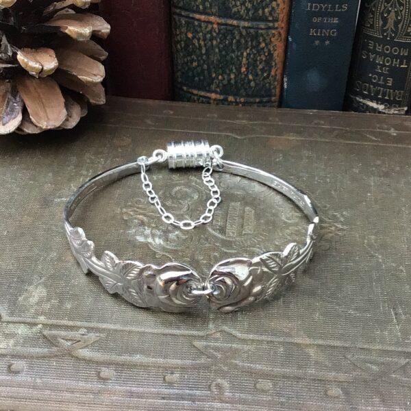 Rose pastry fork handle bracelet