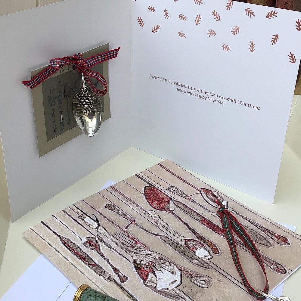 Chris's fork emporium Christmas decoration card