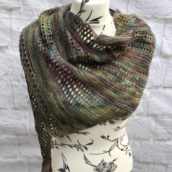 Hand Knitted Merino Wool Shawl