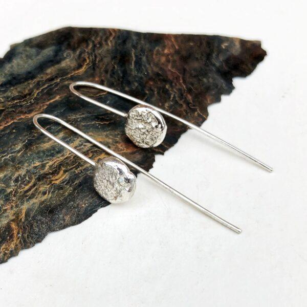 76 Silver -reversible silver star pendant