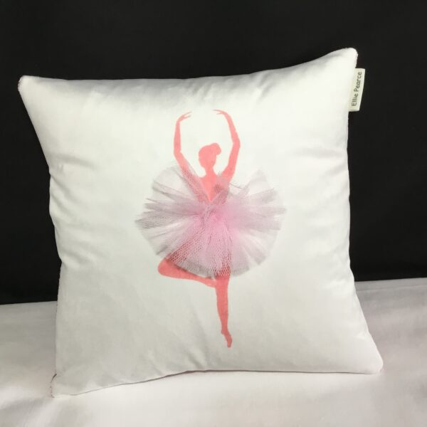 "Elliepearcecushions Pink Prima ballerina 12""x12"""