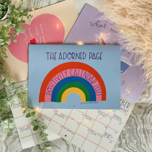 The Adorned Page Positivity Calendar 2021
