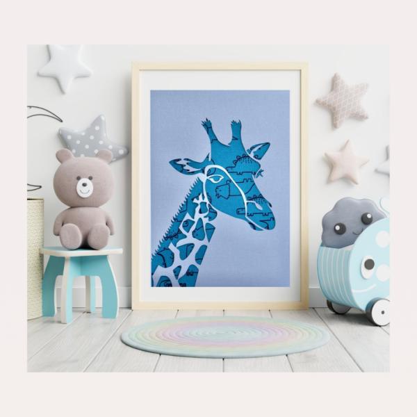 Your 1st Adventures Framed - Giraffe