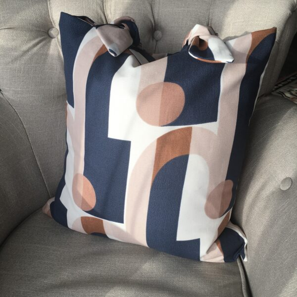 Chloe's Cushions navy handmade cushion