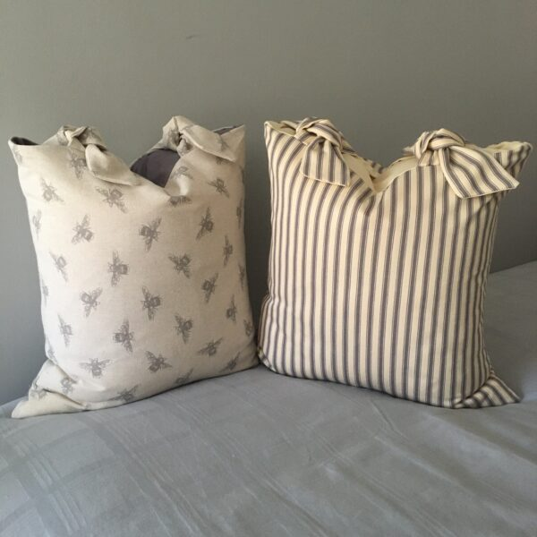 Chloe's Cushions handmade linen & striped cushion