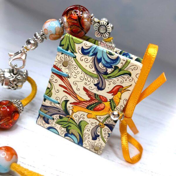Anastacia Tohill Art Book Necklace, Miniature Book, Jewellery, Necklace, Glass Jewellery, Book Gift