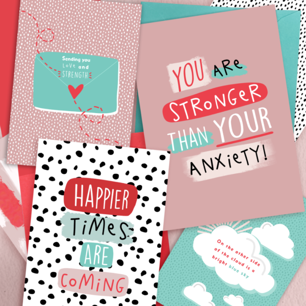 PaperJack Illustrates, Anxiety Greeting Cards, Pink Greeting Cards