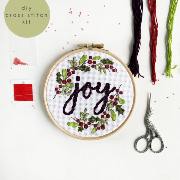 JOY Christmas Cross Stitch Kit