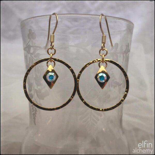 elfin alchemy gold hoop earrings
