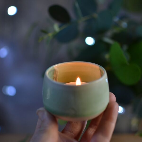 Lorna Gilbert Ceramics, small ceramic candle holder