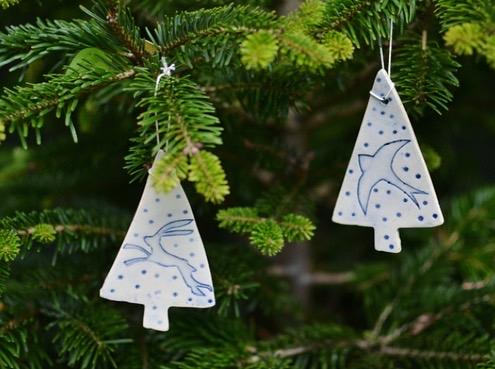 Lorna Gilbert Ceramics, Christmas Tree Decorations