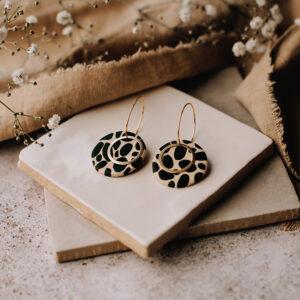 Delicious bits Jewellery- Black-dotty-earrings
