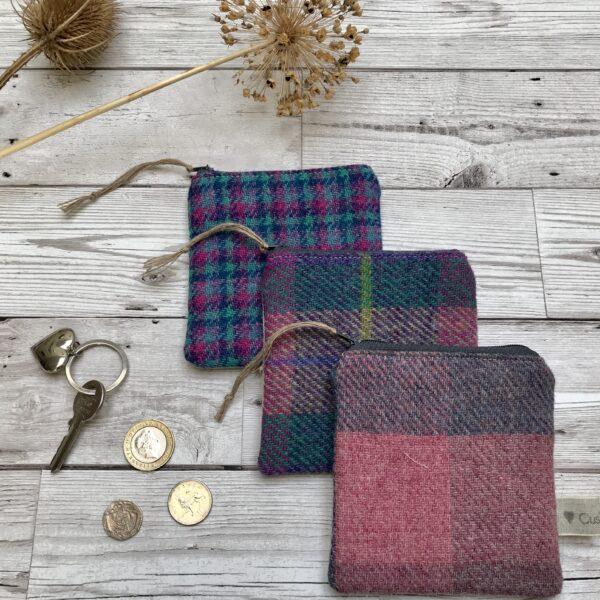 Cushie Doo Textiles Tweed Purses