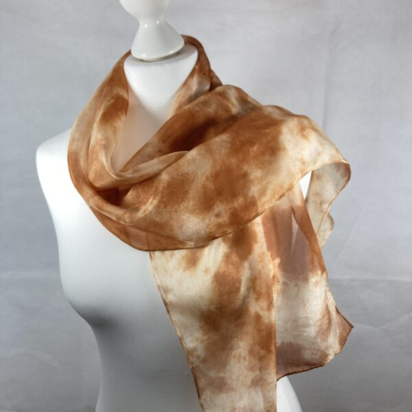 Silk scarf hand dyed with onion skins SC57