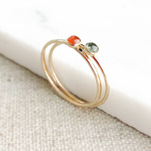 Crystal and Stone Jewellery Fine hammered 9k gold rings