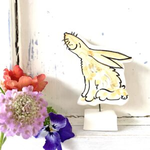 Louise Crookenden-Johnson ceramics hare pottery ornament gazing Moon gazing hares