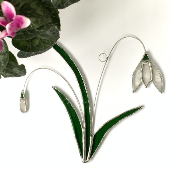 Carole's Glass stained glass Snowdrop