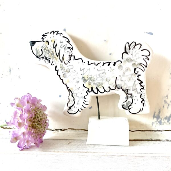 Louise Crookenden-Johnson ceramics dog pottery portrait pets cockapoo