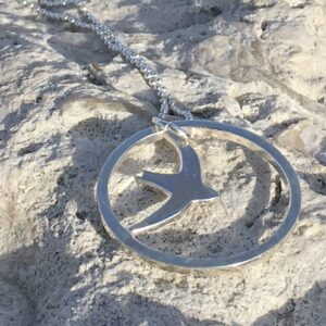 Sea and Silver - Silver Swift Pendant