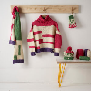 Contemporary knits handmade for a sustainable wardrobe and home