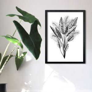 White Thistle Design, tropical print