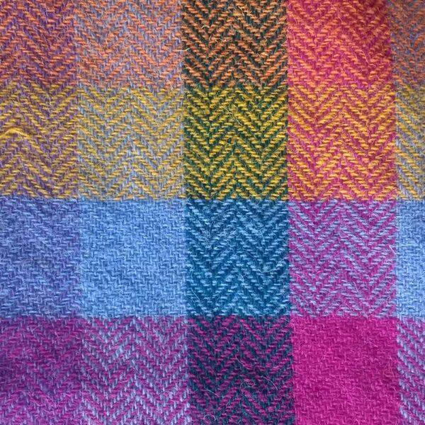 Ali Sharman Handweaver - Colourful woven sample using my Yorkshire Dales yarn
