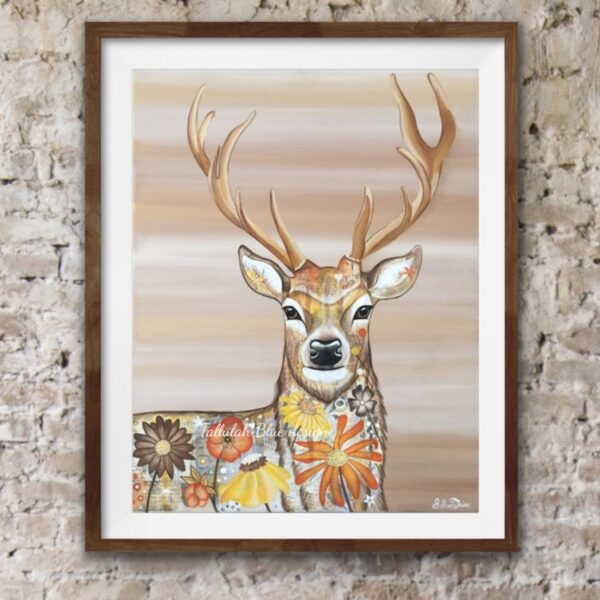 Tallulah Blue Design, Stan the Stag Art print.