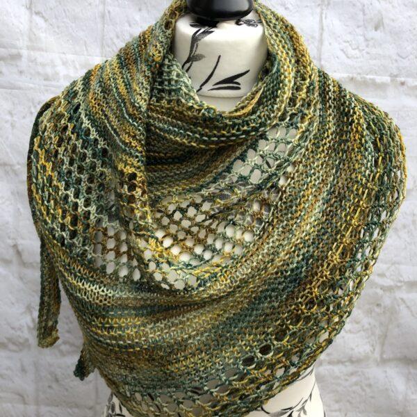 Hand Knitted Merino Wool Shawl
