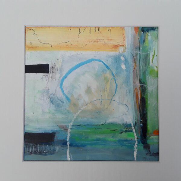 Cherryloftstudio Sunlit Cove. Abstract original painting