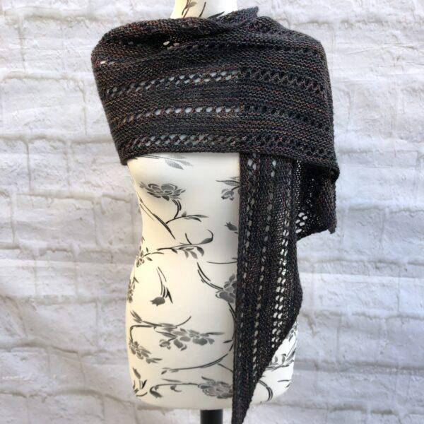 Bias Knit Merino and Mohair Wrap