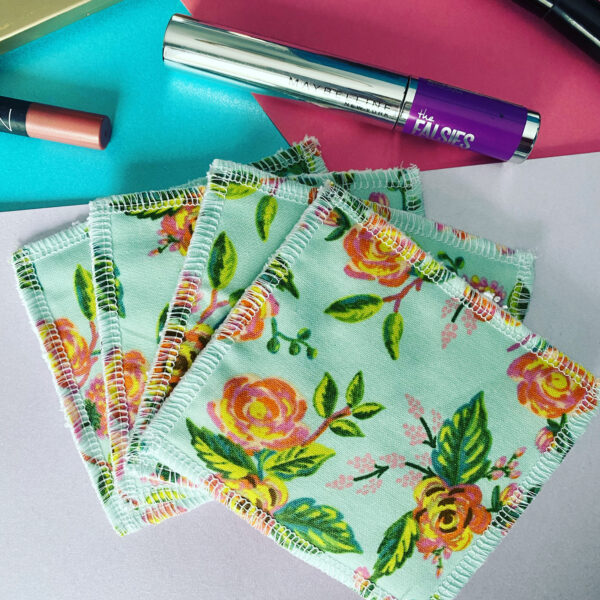 Miss Maisie Makes, reusable make up wipes, reusable pads with make up