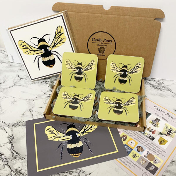 Set of Bee Coasters