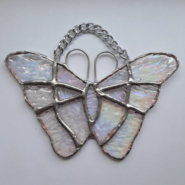 stained glass irridised butterfly