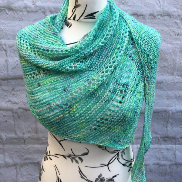 Aquamarine Merino Wool Shawl