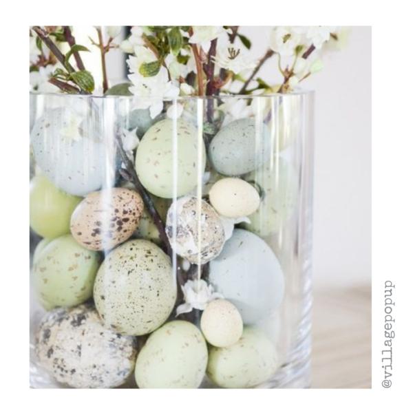 vase with eggs. Village Pop Up Spring Inspiration Online Market
