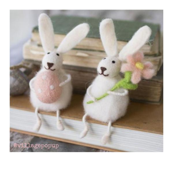 Felt bunnies. Village Pop Up Spring Inspiration Online Market