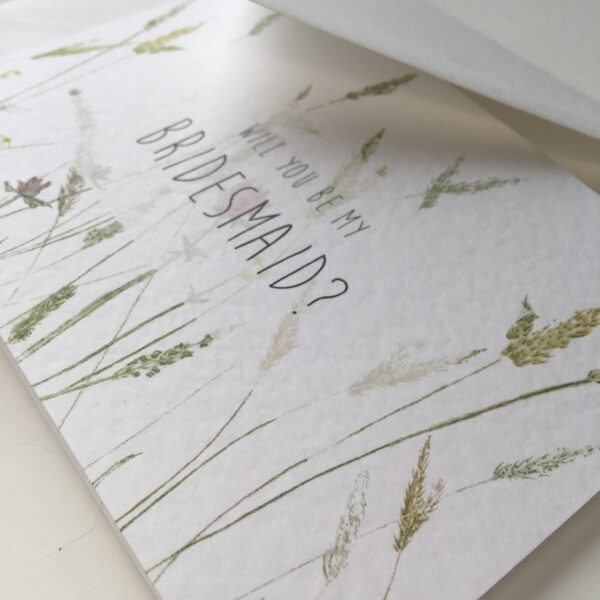close up details of bridal cards