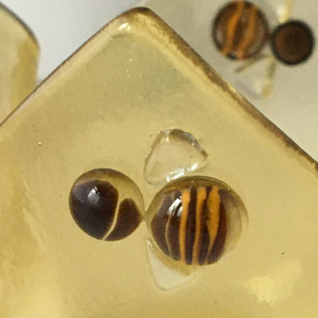 Garage Glass Studio fused glass bee