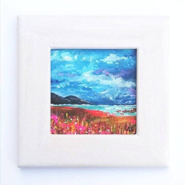 Ann Smith Art, Blue Skies in Summer Framed Mini Painting