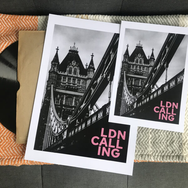 Almond Creative, the clash London calling art print.