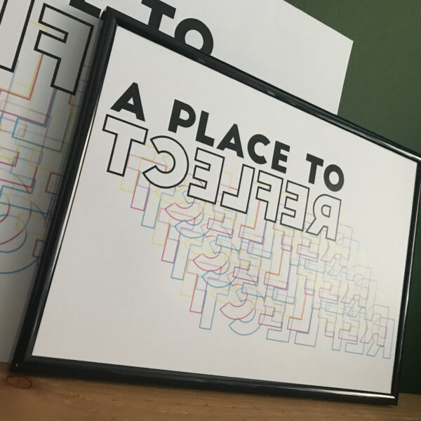 Almond Creative, a place to reflect typography print.